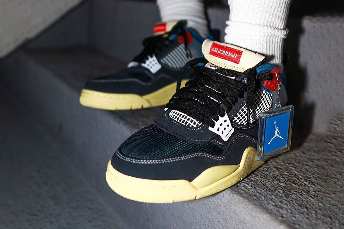 Union Air Jordan 4 On Foot