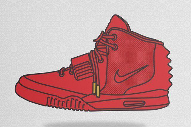Thumbsneaker Prints Nike Air Yeezy 2 Red