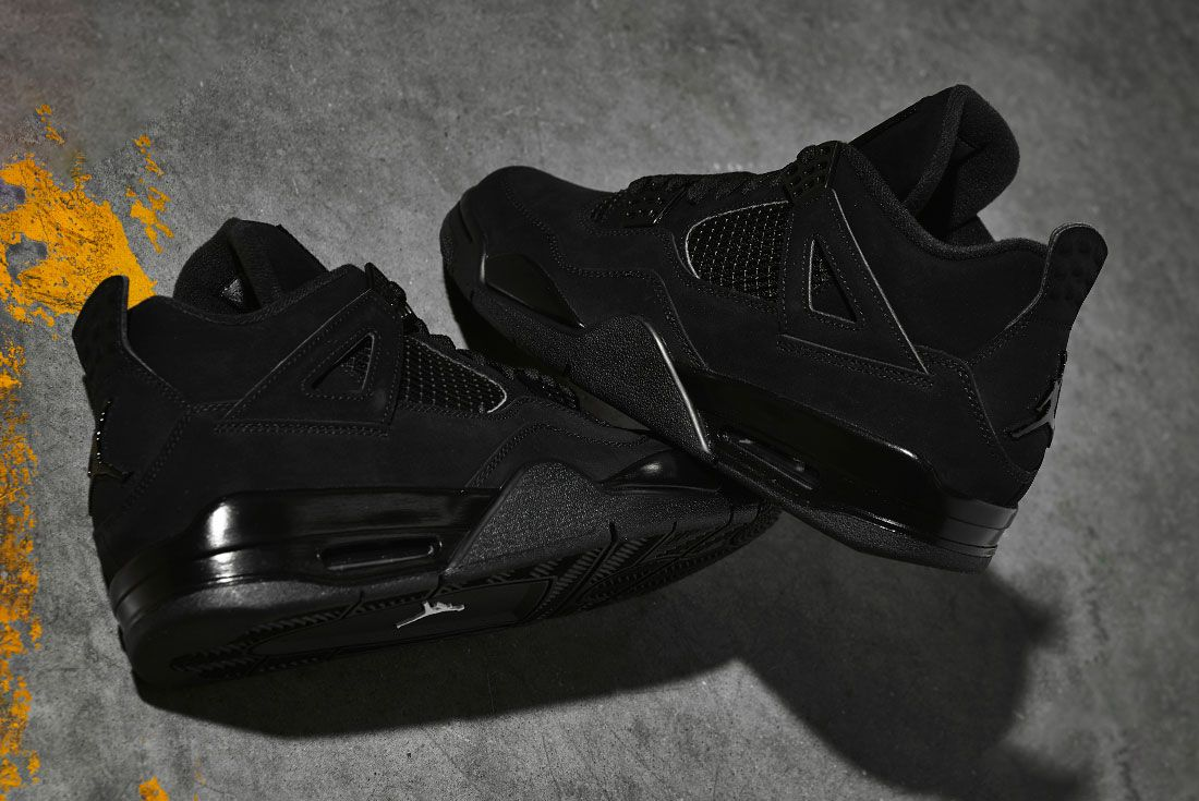 Air Jordan 4 Black Cat 2020 Retro Jd Sports Stacked