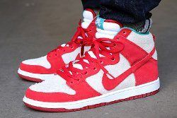 Nike Dunk High Pro Sb Gym Red White Thumb