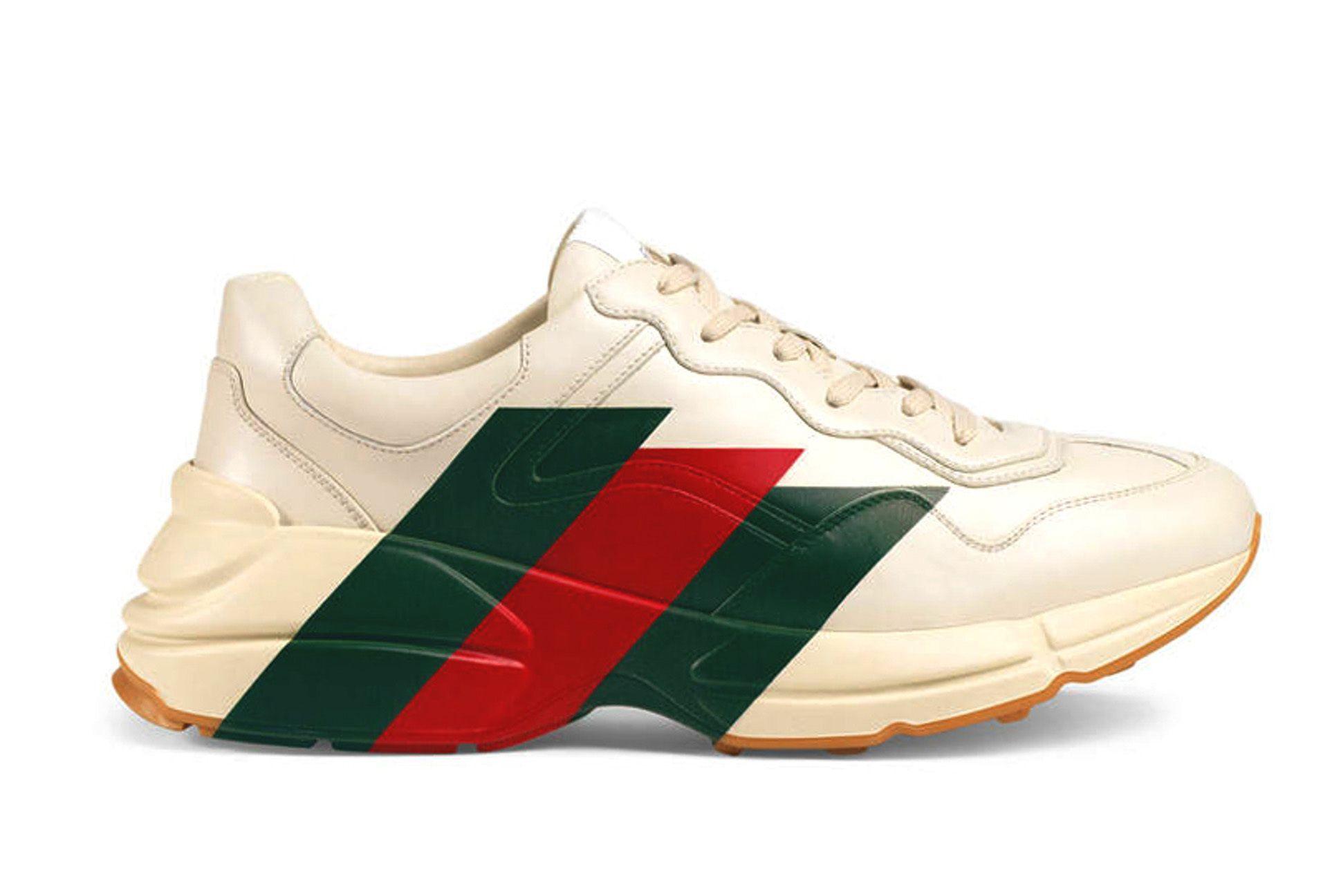 Gucci Rhyton Web Print Sneakers Black White Release 02 Sneaker Freaker