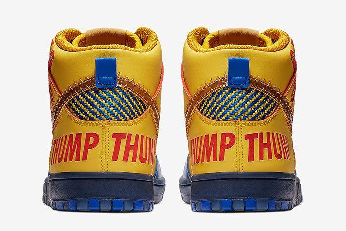 Nike Sb Dunk High Doernbecher Release Date Heel