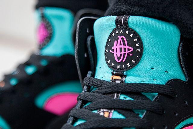 Nike Flight Huarache Pink Pow Black Bumper 2
