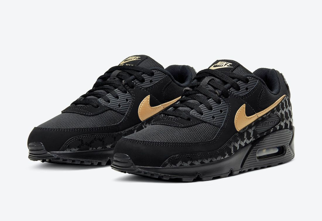Nike-Air-Max-90-black gold