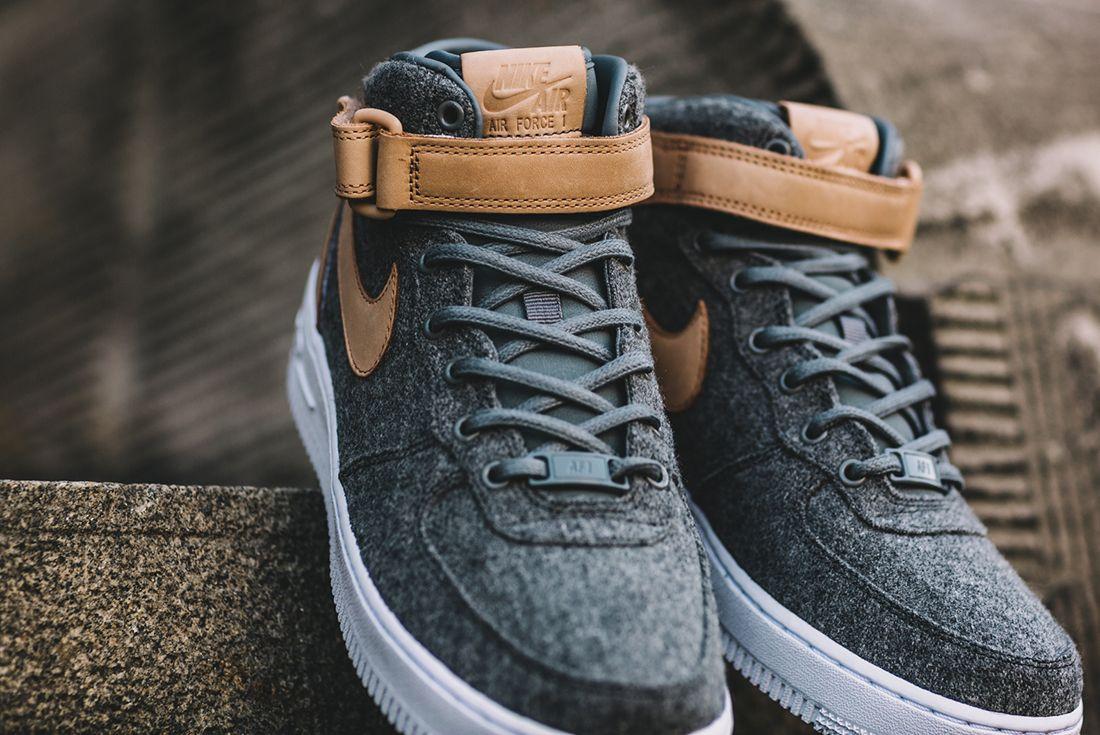 Nike Air Force 1 07 Mid Leather Premium Oatmeal