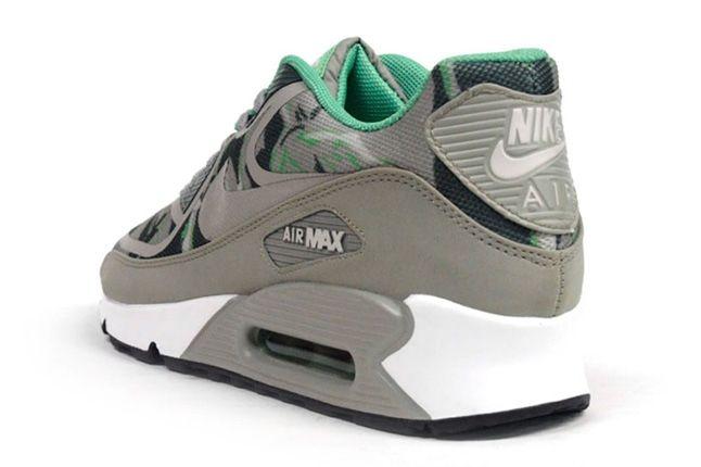 Nike Am90 Prm Tape Green Camo Heel Quarter 1
