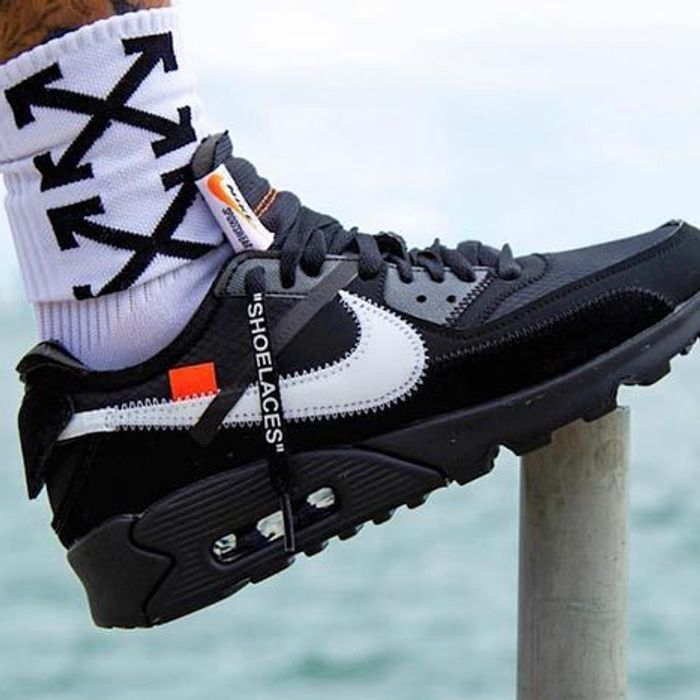 On Foot Look Off White X Nike Air Max 90 Black Sneaker Freaker