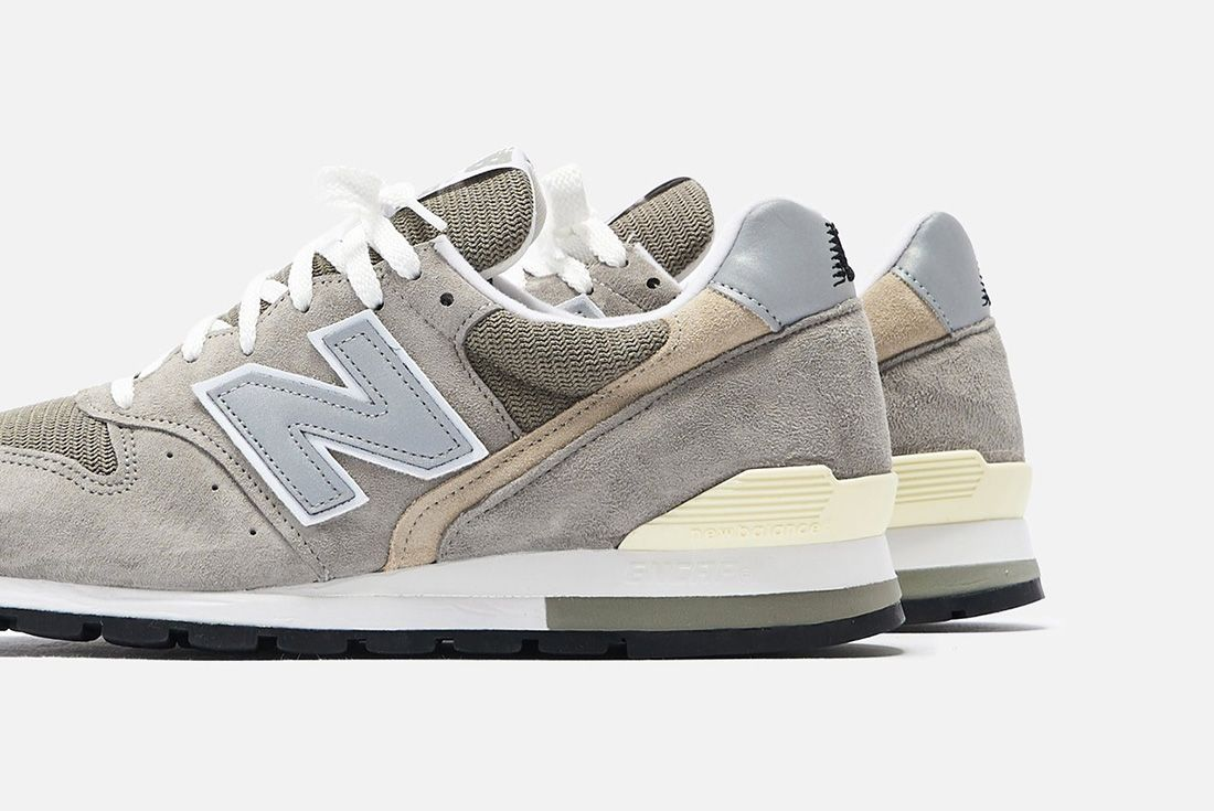 New Balance 996 Grey Heel Detail