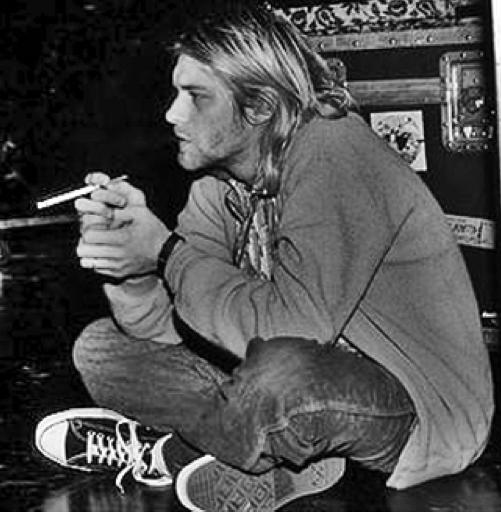 Kurt Cobain Indossa All Star