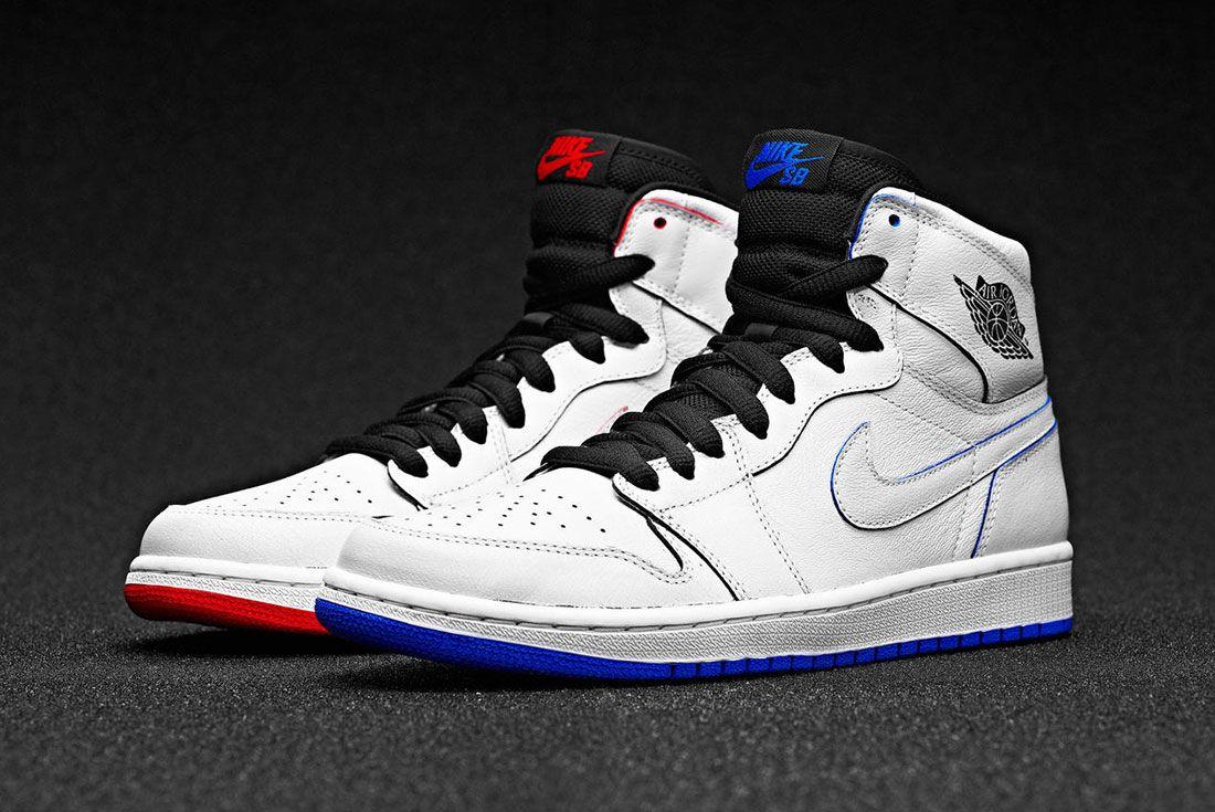 Nike Sb Aj1 Underneath Wht Pair Cln Original Hd 1600 Pair