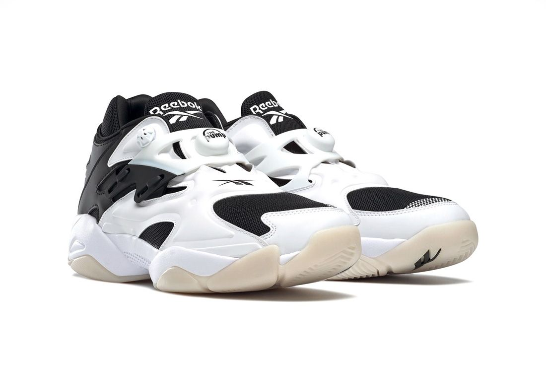 Reebok Pump Court White Black Front Angle