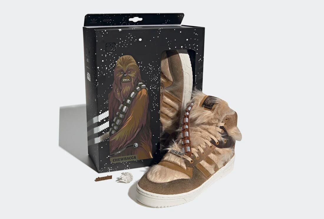 star was adidas chewbacca on white