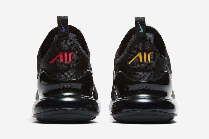 Nike Air Max 270 Black Multicolour Heels