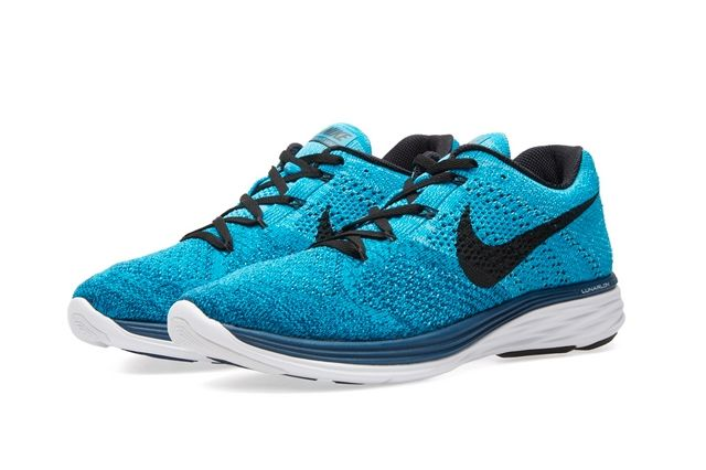 Nike Flyknit Lunar 3 Brave Blue 2