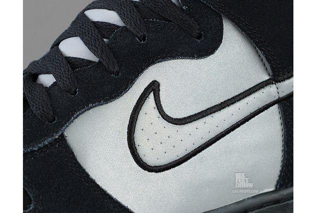 Nike Dunk High Black Reflective Silver Detail