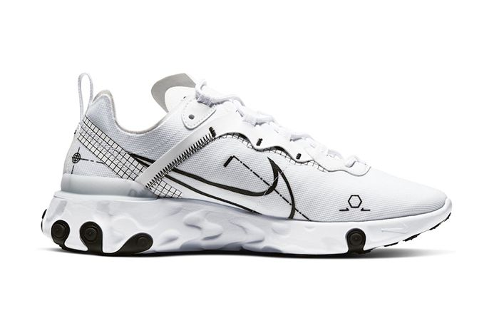 Nike React Element 55 Schematic Release Date Medial