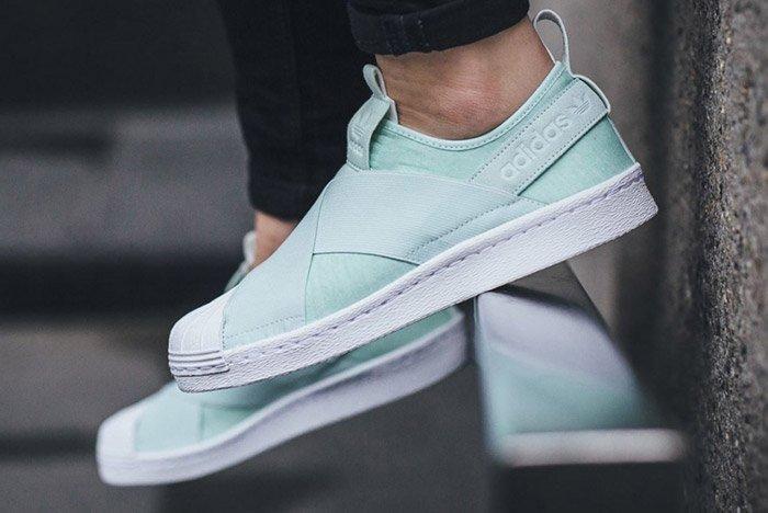 adidas Superstar Slip On Wmns (Ice Mint) - Sneaker Freaker