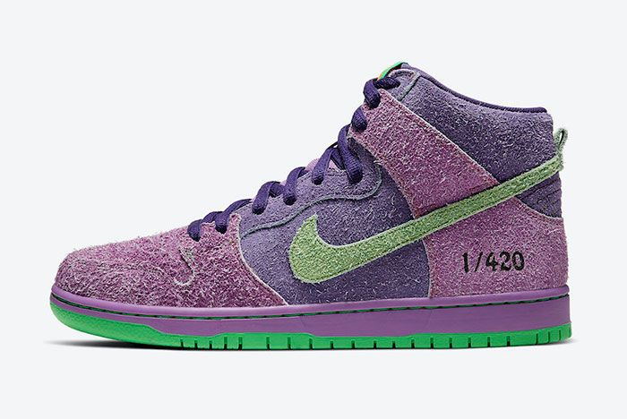 Nike SB Dunk High 4/20 'Reverse Skunk' Lateral