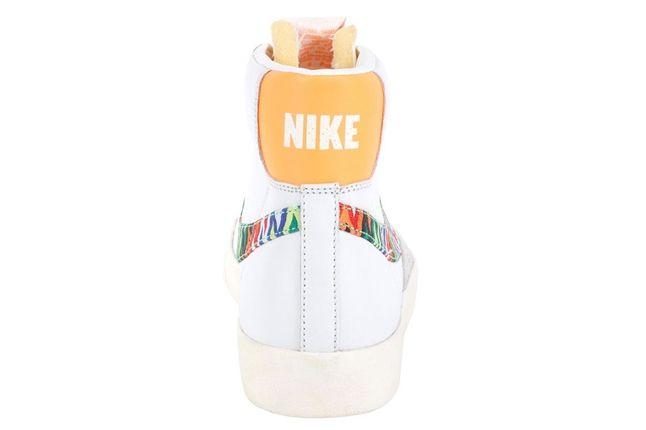 Nike Blazer Mid 77 Prm Vntg Sail Bright Citrus Heel 1