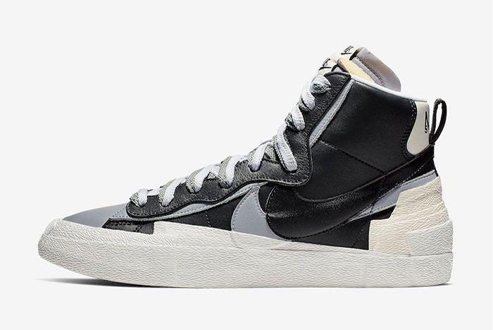 Sacai Nike Blazer Mid Black Wolf Grey Release Date