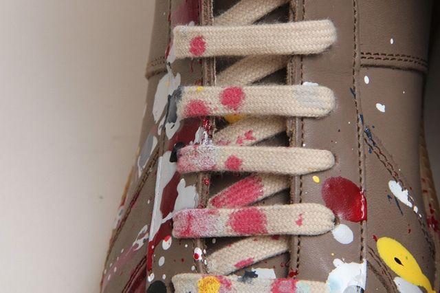 Maison Martin Margiela Paint Splatter Replica High Top 1