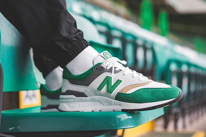 New Balance 997H Celtic On Foot