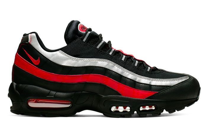 Nike Air Max 95 Black Red Silver Right