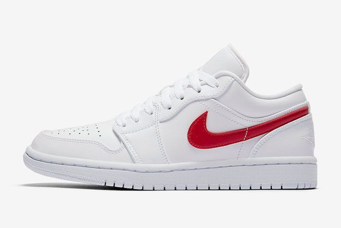 Air Jordan 1 Low White University Red Ao9944 161 Lateral