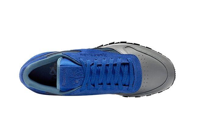 Reebok Classic Leather Stash Blue Aerial 1