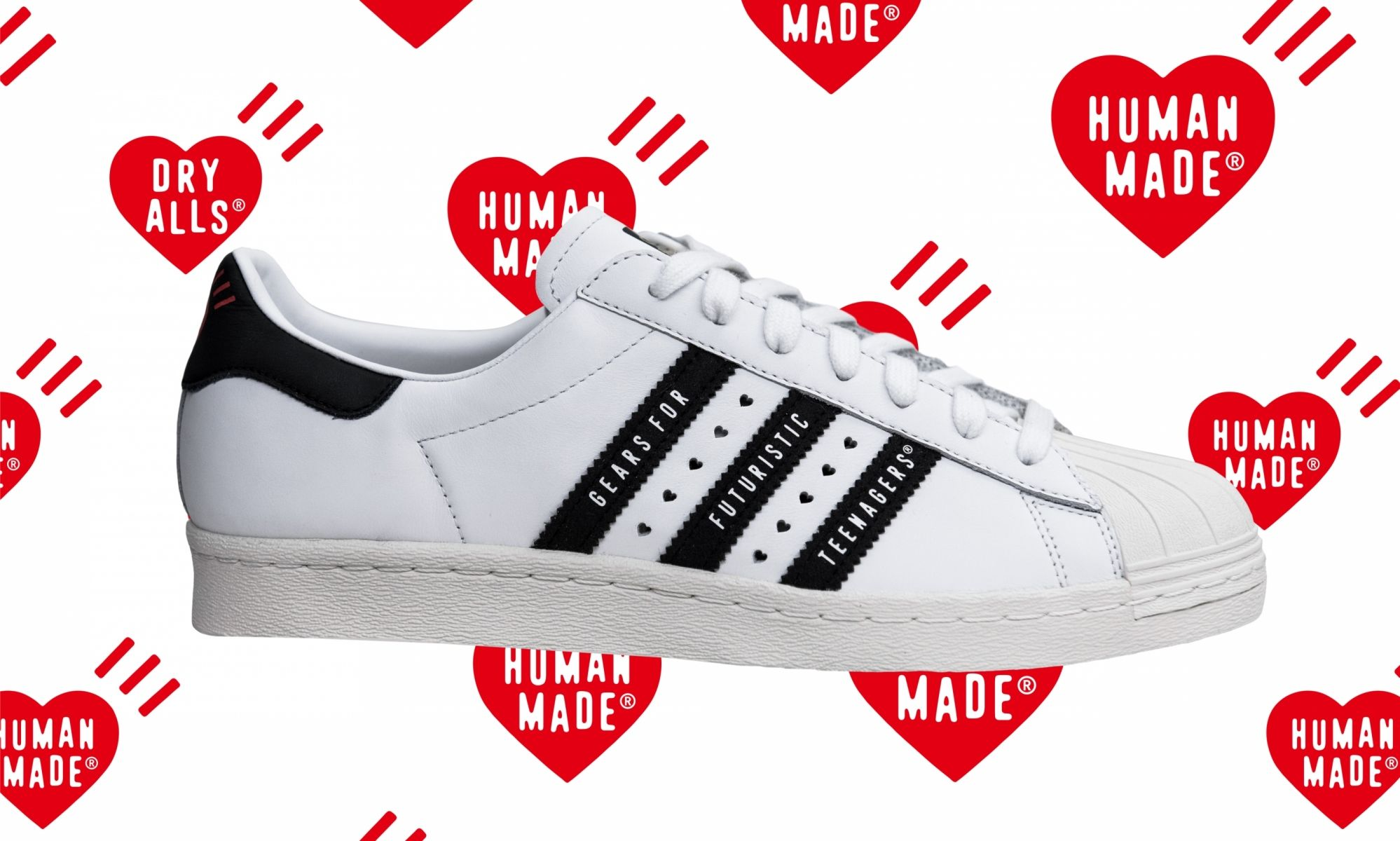 Human Made x adidas Superstar 80s (White/Black)