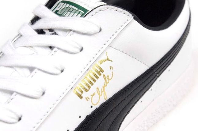 Puma Clyde Leather White Black 1