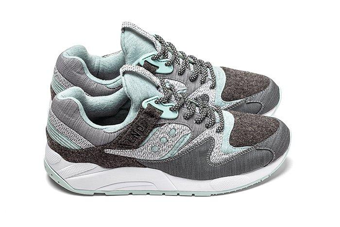 End X Saucony Grid 9000 White Noise