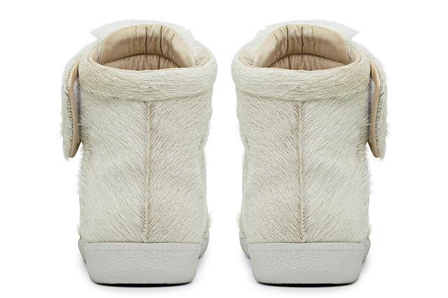 Maison Martin Margiela Pony Skin Exclusive White High Top Sneaker Heel
