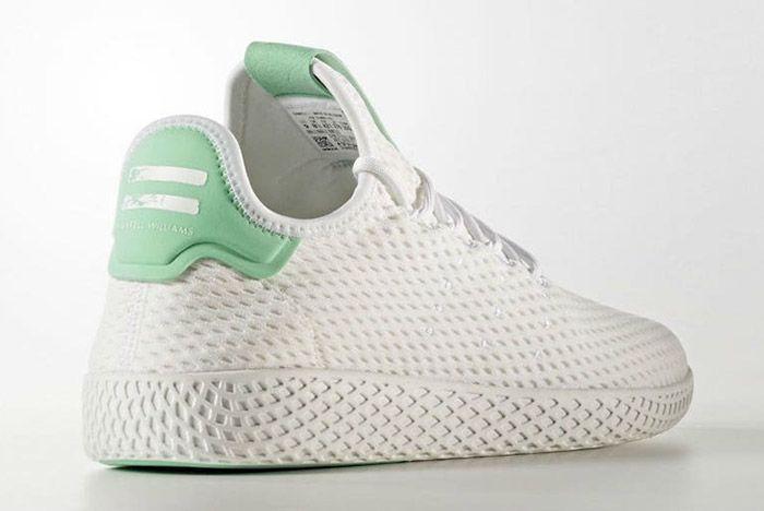 Adidas Pharrell Williams Tennis Hu Pastel Green 4