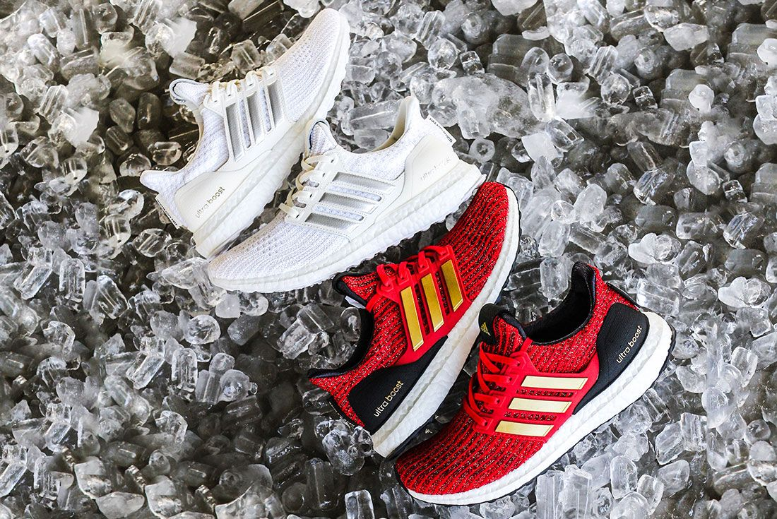Game Of Thrones Ultra Boost Red Gold And White Side 5