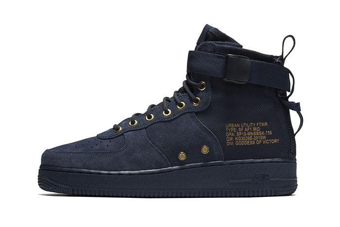 Nike Sf Air Force 1 Mid Obsidian 3