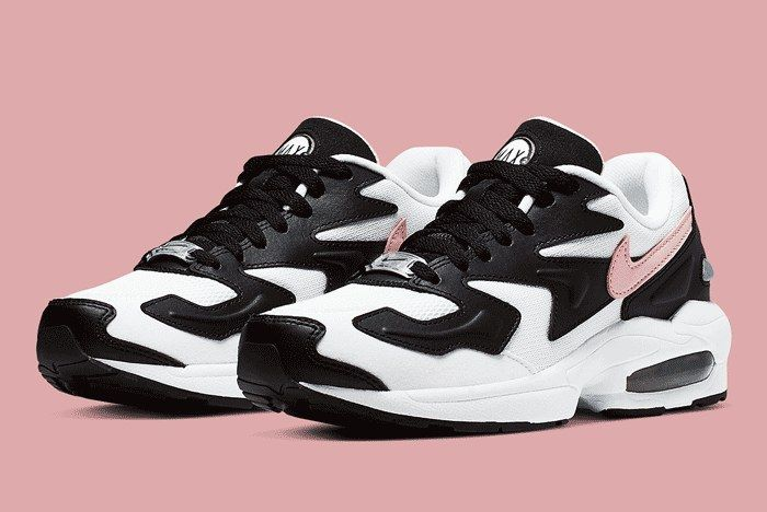 Nike Air Max 2 White Black Pink Front Full