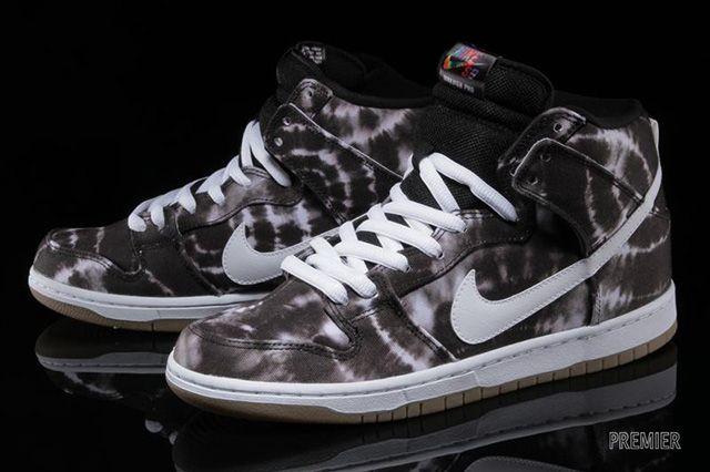 Nike Sb Dunk High Black White Tie Dye 4