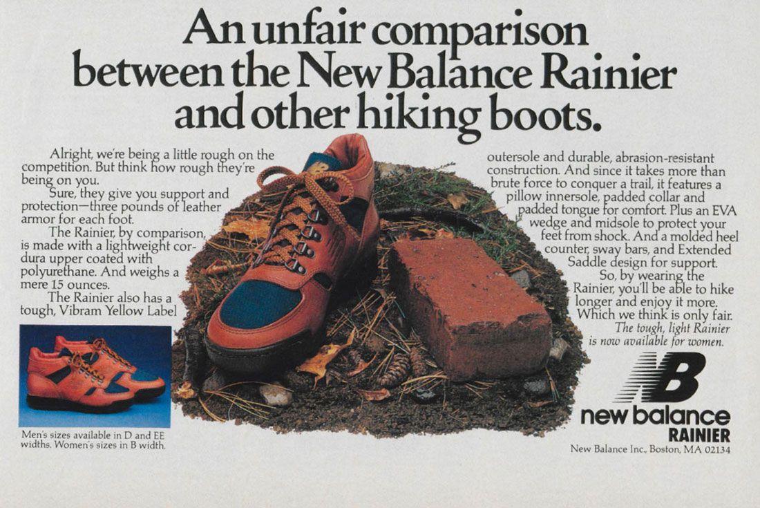 New Balance Rainier Vintage Ad