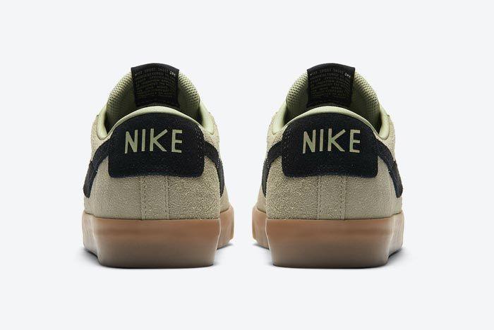 Nike Sb Blazer Low Olive Aura Heels