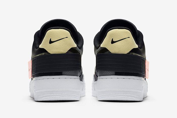 Nike Af1 Type Black Ci0054 001 Heel Shot