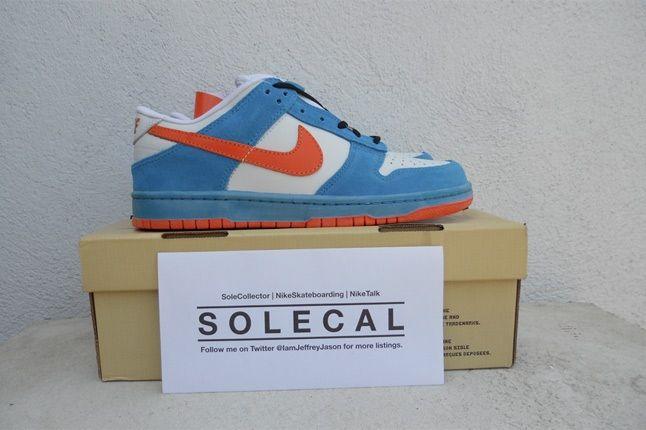 Nike Dunk White Blue Orange 1