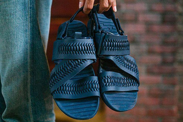 Nike Solarsoft Zigzag Woven Sandal Navy Blue Thumb