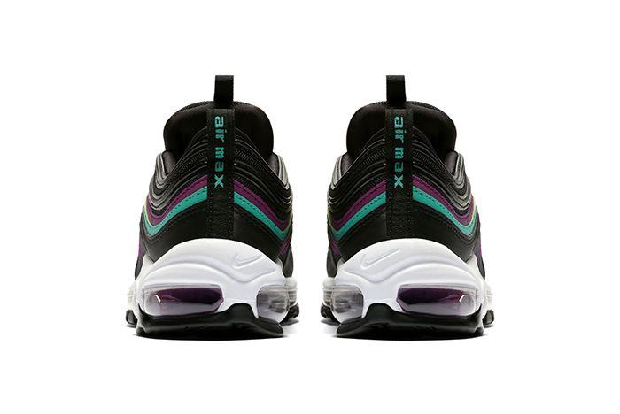 Nike Air Max 97 Black Purple Teal 4