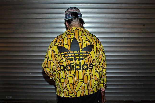 Hong Kong Sneaker Snaps Adidas Originals Gold Jacket 1