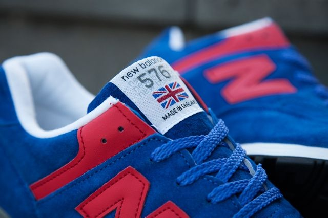 New Balance 576 Wmns Make In Uk Royal Red Hype Dc 1