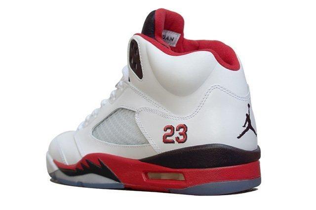 Air Jordan 5 Fire Red Black Tongue 2