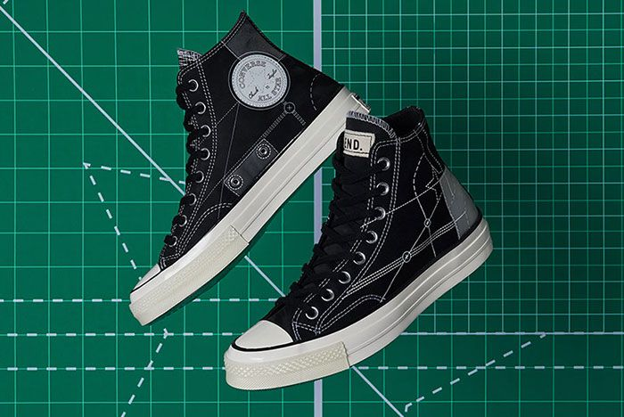 End Converse Blueprint Pack Chuck 70 Jack Purcell Black Lateral Side Shot