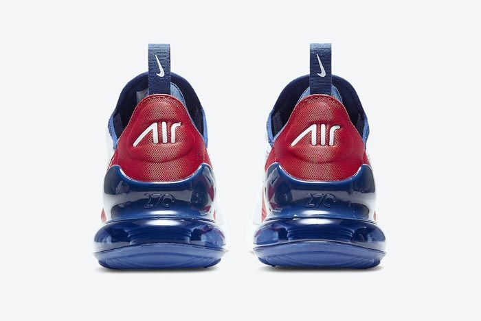 Nike Air Max 270 Red White Blue Heel