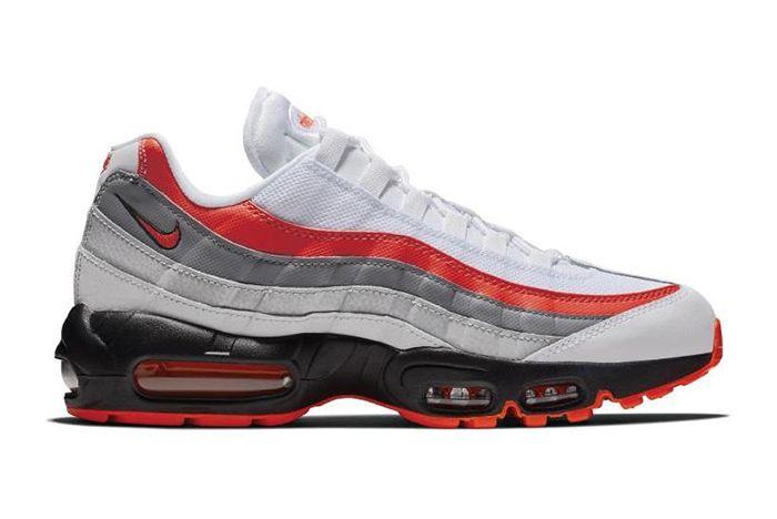 Nike Air Max 95 White Grey Black Bright Crimson 1
